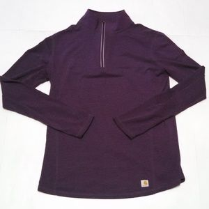 Carhartt Force 1/4 Zip Shirt Pullover Purple